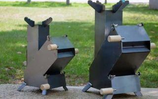 Чертежи и видео ракетной печи, необходимые для монтажа своими руками