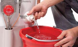 Как правильно сливать воду из бойлера