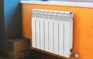 Алюминиевый радиатор в комнате