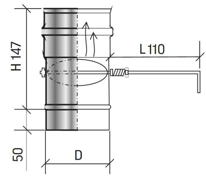 Расположение шибера в дымоходе переходник дымохода для котла дон 16