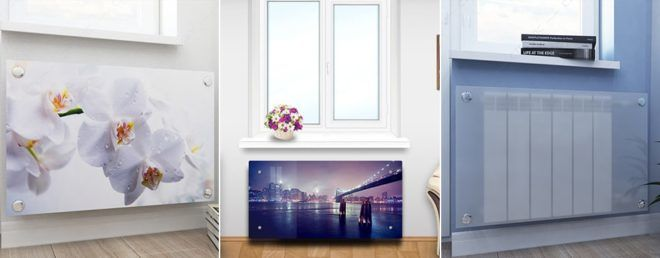 Какие бывают стеклянные экраны для радиаторов