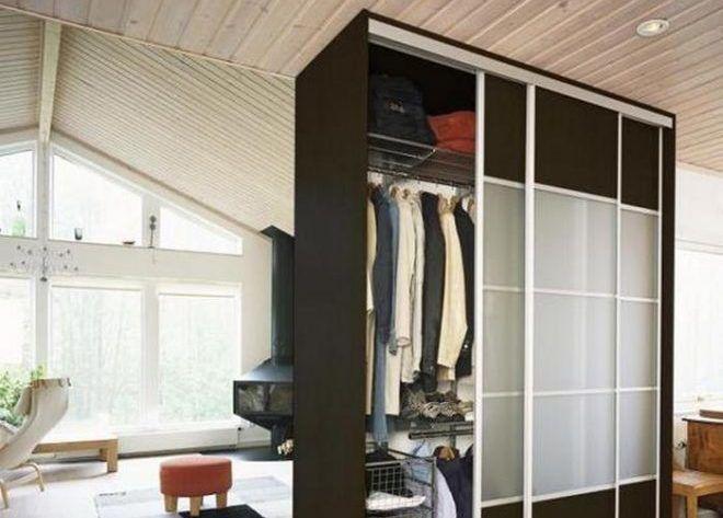 Разделение комнаты шкафом-купе