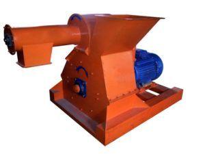 Стационарная дробилка для первичного измельчения древесины