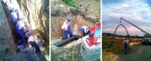 Строительство полиэтиленового газопровода высокого давления