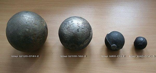 Виды чугунных шаров для бани