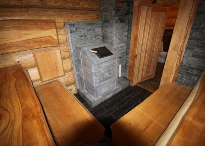 Каменная печь для бани