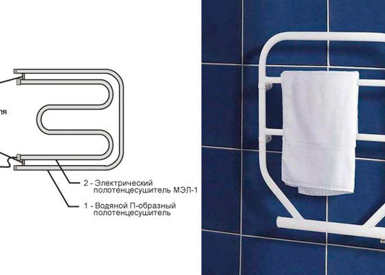 Комбинированные полотенцесушители