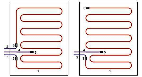 Крепление нагревательного элемента теплого пола