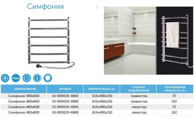 Полотенцесушители для ванной электрические из нержавейки