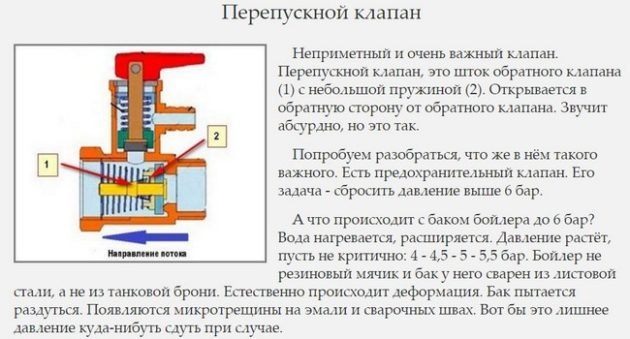 Как работает предохранительный клапан на водонагревателе