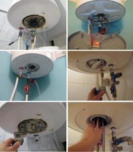 Как разбирается водонагреватель для чистки его внутри