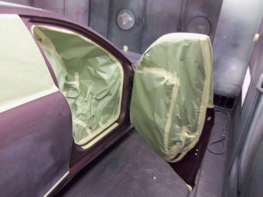оклейка окон авто малярной лентой