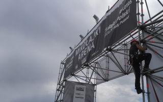 Установка баннеров и широкоформатной рекламы