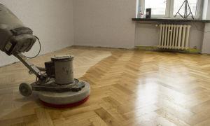 Как правильно отшлифовать деревянный пол?