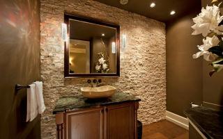 Варианты облицовки стен в ванной комнате