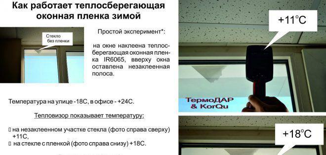Энергосберегающая пленка для утепления стекол