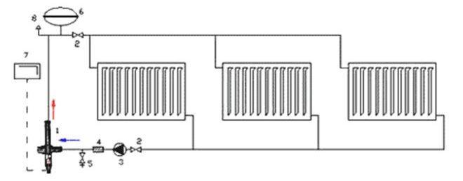 Принципиальная схема подключения электрокотла