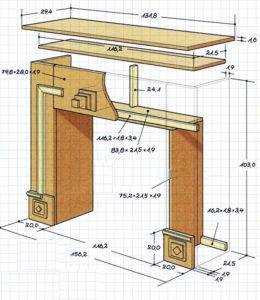 Схема отделки каркаса