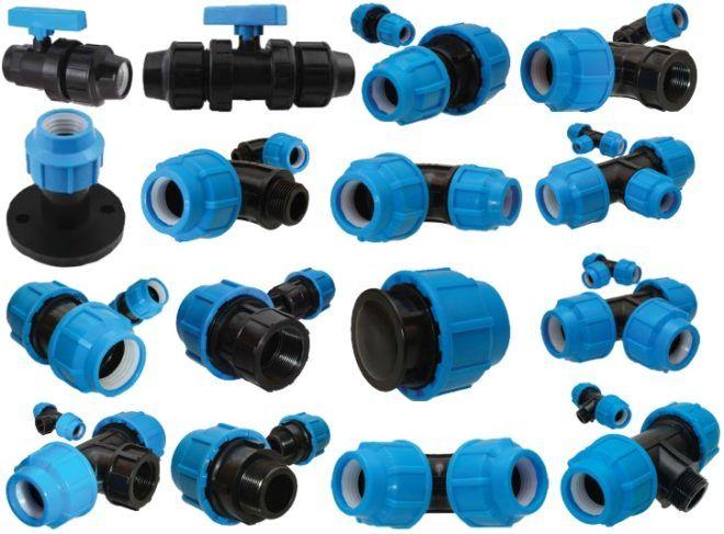 Соединительные элементы для полиэтиленовых труб