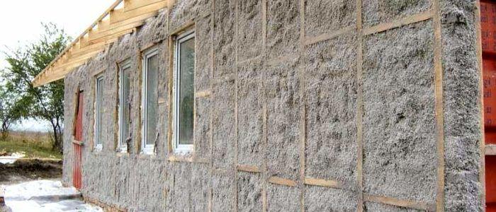 Утепление эковатой стен домов