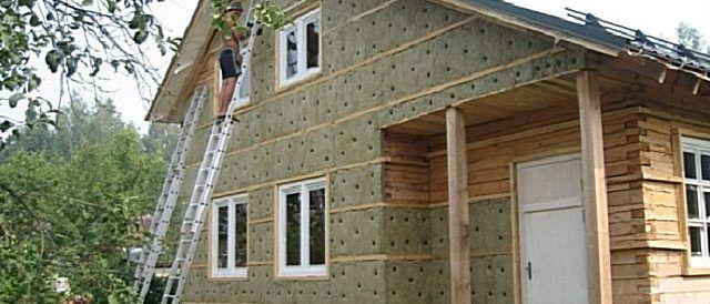 Утепление эковатой стен домов4