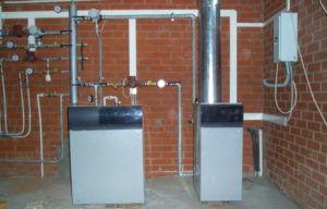 Газовый котел в подвале