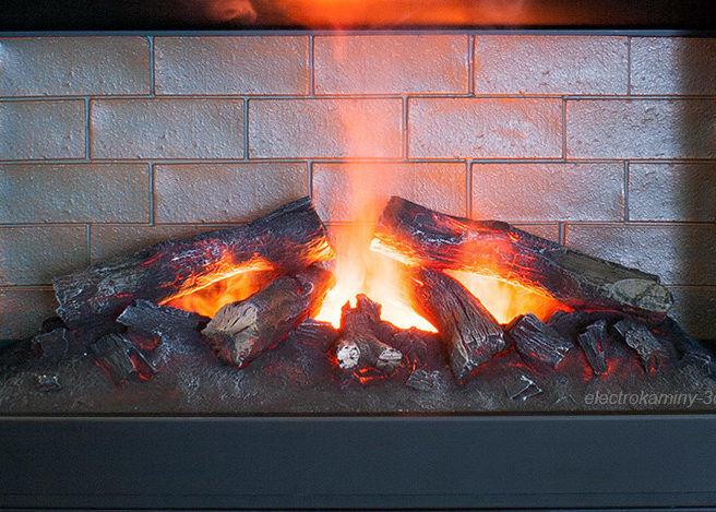 Камин электрический с эффектом пламени 3д